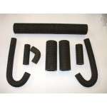 Radiator Hose Set, Fits DB2 to Early DB MkIII, 8 Part 'canvas Wrap' Style Silicon Hose.