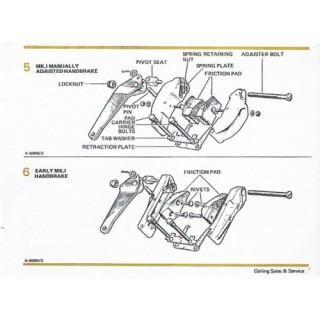Dunlop Handbrake Pre Tension Spring DB4,  XK 150 & Others